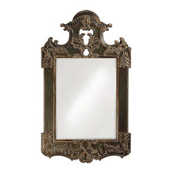 Park Lane Antique Brown Mirror - Our Park Lane Mirror features a dramatically, oversized rectangular frame decorated with an ornate design. The frame is then painted with an antique black finish with a bronze rub and highlights. Perfect for leaning against a wall.