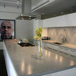 Concrete kitchen countertops - Concrete Countertops,Tribeca,NYC.