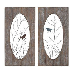 Benzara - Wooden Assorted Set of 2 Panel Wall Decor - Wooden Assorted Set of 2 Panel Wall Decor. Want something new with a vintage appeal to spruce up your home decor? Then this wooden assorted Set of two-panel wall decor is perfect for you. Some assembly may be required.