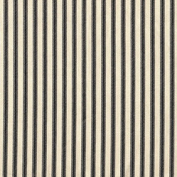 "22"" King Bedskirt Gathered Black Ticking Stripe"