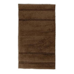 "Garland Rug - Bath Mat: Accent Rug: Majesty Cotton Chocolate 30"" x 50"" Bathroom - Shop for Flooring at The Home Depot. Add elegance and beauty with Majesty Cotton Bath Rugs. Soft cut pile plush 100% U.S. Cotton in an elegant and modern stripe pattern will go with any bathroom design. Proudly made in the USA."