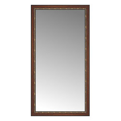 """Posters 2 Prints, LLC - 41"""" x 77"""" Malabar Walnut Custom Framed Mirror - 41"""" x 77"""" Custom Framed Mirror made by Posters 2 Prints. Standard glass with unrivaled selection of crafted mirror frames.  Protected with category II safety backing to keep glass fragments together should the mirror be accidentally broken.  Safe arrival guaranteed.  Made in the United States of America"""