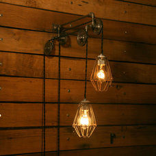 Black Friday 15% off Industrial Pulley Light by IndustrialRewind