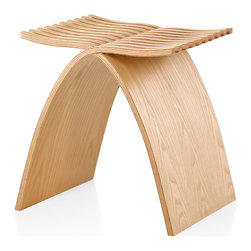 Herman Miller - Capelli Stool - No storage space? No problem. The next time you need a little extra seating, just nonchalantly pull out this artistic masterpiece and watch what happens. You will be able to hear a pin drop as you interlock the wavy fingers and (presto!) a stool appears. Who knew you were so DIY!