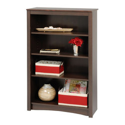 Prepac - Prepac Sonoma Espresso 48 Inch 4-Shelf Bookcase - Add an accent that's both functional and upscale to your home with the 4-shelf bookcase. With four shelves' worth of storage for books, plates, decorative accessories and more, this stylish piece is ideal for your den, office or living room. Get even more storage by arranging it with others for a library wall effect. It's one storage piece that's as fashionable as it is versatile.