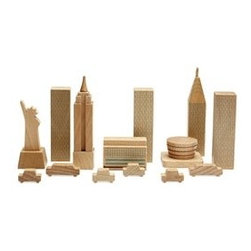 City in a Bag: New York - These wooden blocks are a lovely meeting of form and function. They're so pretty that you don't even have to pick them up when company comes over.