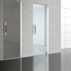 Saloon Sliding Door - Clear / frosted swing / sliding glass door
