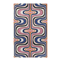 RR - On Sale Pink and Blue Square Swirl Dreamscape Rug - 5 x 8 - On Sale Pink and Blue Square Swirl Dreamscape Rug - 5 x 8