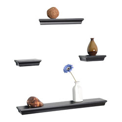 Floating 4-Piece Wall Shelf Set