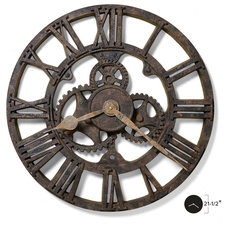 Industrial Wall Clocks by Interior Clue