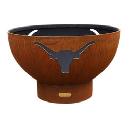 Fire Pit Art - Fire Pit Art Long Horn Steel Constructed Wood Burning Fire Pit - The long horn fire pit is an iconic symbol of the wild west.