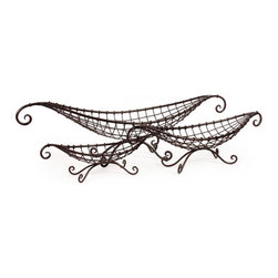 """IMAX CORPORATION - Wire Baskets - Set of 3 - Open metal gondola-shaped matching set of three baskets in graduated sizes. Set of 3 in various sizes measuring around 41.5"""" X 10.75"""" X 16.5"""" each. Shop home furnishings, decor, and accessories from Posh Urban Furnishings. Beautiful, stylish furniture and decor that will brighten your home instantly. Shop modern, traditional, vintage, and world designs."""