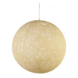 Modernist Stringy Pendant Lamp Cream Small - Modernist Stringy Pendant Lamp in Cream Small