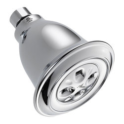 Delta Traditional Water-Efficient Shower Head - 52658-PK - Getting ready in the morning is far from routine when you're surrounded by a room and in the company of a faucet that reflects your personal style