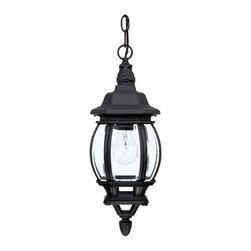 Capital Lighting - Capital Lighting 9868BK French Country Black Outdoor Hanging Lantern - Capital Lighting 9868BK French Country Black Outdoor Hanging Lantern