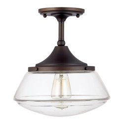 Capital Lighting - Capital Lighting 3533BB-134 Transitional Semi Flush Mount Ceiling Light - Capital Lighting 3533BB-134 Transitional Semi Flush Mount Ceiling Light