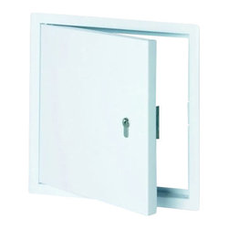 "Best Access Doors - Metal Access panel - with Profile Cylinder Lock, 12""x12"" - 12"" x 12"" Metal Access panel - with profile cylinder lock BA-B4 - metal access panel, prepared for profile cylinder provided by customer The access panel consists of a solid outer frame and a hatch, made of galvanized sheet steel with integrated profile cylinder lock. The standard colour is white - RAL9016. The profile of the outer frame is chamfered. Therefore, the hatch is fixed flush with surfaces made of plaster or gypsum. The four riveted wall anchors ensure a safe installation in walls or ceilings. The door leaf is removable and suitable for left-hinged and right-hinged doors. The access panel can be locked with a profile cylinder lock (profile cylinder provided by customer).http: www.bestaccessdoors.com content BA-B1.pdf (BA-B4 Our system special advantagesEconomical solutionDelivery at short notice on requestQuick and easy installationSophisticated solutionAvailable in nearly every colourLockablePerfectly suitable for on site locking systems Capabilities Sheet steel access panels can be installed in partitions and ceilings as well as in solid walls and ceilings. Customized solutions Customized sizes can be produced in every dimension upon request. http: www.bestaccessdoors.com custom-size-access-doors (Request a Quote)"