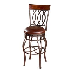 Bella Bourbon Leather Stool - Make yourself at home in this super comfortable leather chair. Slides easily under a countertop and it beautiful to look at. Your living room armchair may have just been displaced!