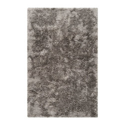 Lavish Shag Rug in Gray - Treat your feet to an ultra plush rug. You'll love to go barefoot on this lustrous handwoven rug, with deep, plush tufting. You might even choose to skip the couch.