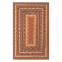Jaipur Rugs - Braided Solid Pattern Cotton/ Polyester Red/Yellow Area Rug ( 2x3 ) - These braided cotton rugs are both durable and rich in color and style.
