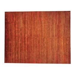 1800GetARug.com - 12'x15' 100% Wool Modern Rust Red Oversize Hand Knotted Oriental Rug Sh18621 - 12'x15' 100% Wool Modern Rust Red Oversize Hand Knotted Oriental Rug Sh18621