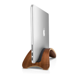 Twelve South - BookArc möd Walnut for MacBook Air, Pro, Retina by Twelve South - BookArc möd is a meticulously crafted hardwood MacBook stand that blurs the lines between furniture and technology. Inspired by the remarkable spaces many MacBook owners inhabit, this beautiful arc-shaped stand elevates your MacBook up off your desk for a clean workspace. Delivered in museum-quality packaging, this impressive stand looks more like a fixture for your home than an accessory for your Mac. BookArc möd is compatible with all MacBooks, and is available in three finishes: Birch, Walnut and Espresso.