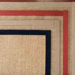 Color-Bound Sisal Rug - This is the classic sisal rug bound with a cotton border. I have one like this in my dining room.