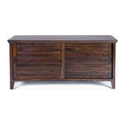 Gingko - Sonoma Media Cabinet, Dark Walnut - Sometimes you want to be noticed; sometimes you need to keep a low profile. This beautiful and versatile cabinet understands that completely. Handmade of solid walnut, it can fit easily in your space — and turn heads at the same time.