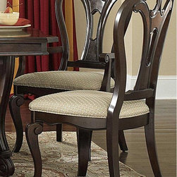 Hillsdale Furniture - Hillsdale Grandover Dining Side Chairs - Set of 2 Multicolor - 4904-802 - Shop for Dining Chairs from Hayneedle.com! With a sophisticated look and just a touch of antique style the Hillsdale Grandover Dining Side Chairs - Set of 2 make a beautiful addition to any dining set. Built from solid hardwood and finished in a gorgeous dark cherry this set of two dining chairs will enhance any dining room decor. Each chair has a generously padded seat with beige fabric upholstery. About Hillsdale FurnitureLocated in Louisville Ky. Hillsdale Furniture is a leader in top-quality affordable bedroom furniture. Since 1994 Hillsdale has combined the talents of nationally recognized designers and globally accredited factories to bring you furniture styling and design from around the globe. Hillsdale combines the best in finishes materials and designs to bring both beauty and value with every piece. The combination of top-quality metal wood stone and leather has given Hillsdale the reputation for leading-edge styling and concepts.