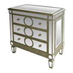 Sterling Lighting - Ritz Accent Chest - Three drawers. Made from MDF, mirror and metal. 33 in. W x 18 in. D x 36 in. H (114 lbs.)