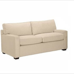 "PB Square Upholstered Loveseat, Down-Blend Cushions, Textured Basketweave Flax - The streamlined silhouette of our bestselling PB Square Love Seat is now available in a more tailored, upholstered edition. Compact proportions make it ideal for smaller spaces. 55"" w x 36"" d x 36"" h {{link path='pages/popups/PB-FG-Square-3.html' class='popup' width='720' height='800'}}View the dimension diagram for more information{{/link}}. {{link path='pages/popups/PB-FG-Square-6.html' class='popup' width='720' height='800'}}The fit & measuring guide should be read prior to placing your order{{/link}}. Choose polyester wrapped cushions for a tailored and neat look, or down-blend for a casual and relaxed look. Proudly made in America, {{link path='/stylehouse/videos/videos/pbq_v36_rel.html?cm_sp=Video_PIP-_-PBQUALITY-_-SUTTER_STREET' class='popup' width='950' height='300'}}view video{{/link}}. For shipping and return information, click on the shipping info tab. When making your selection, see the Special Order fabrics below. {{link path='pages/popups/PB-FG-Square-7.html' class='popup' width='720' height='800'}} Additional fabrics not shown below can be seen here{{/link}}. Please call 1.888.779.5176 to place your order for these additional fabrics."
