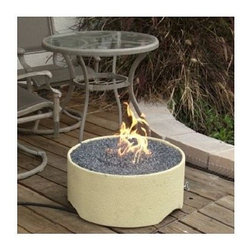 Patio Pleasures - Patio Pleasures /Stucco Fire Pit - -Stainless Steel 40,000 BTU burner