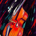 Maxwell Dickson - Maxwell Dickson 'Double Bass' Musical Instrument Canvas Print - Artist: Maxwell Dickson Title: Double Bass Product type: Gallery-wrapped canvas art
