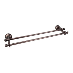 Jeffrey Alexander - Talara Transitional Double Towel Bar - Locksolid leveling system. Fast and easy installation. 24 in. L