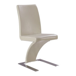 Global Furniture - Dining Chair in Beige With Silver Legs - D88NDC-BEI - Modern style
