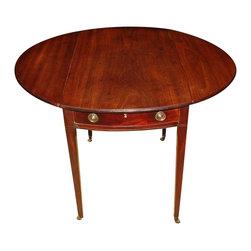 English Georgian Mahogany Oval Pembroke Table - The HighBoy, St. Martin's Gallery, Inc.