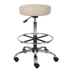 Boss B16240 Caressoft Medical/Drafting Stool - About Boss Office ProductsWilliam Huang, Boss Office Product's CEO, established the Los Angeles-based company in 1990. The company began as an importer, distributing Taiwanese-crafted chairs to retailers and dealers throughout the United States. A year later, in 1991, Boss became the first US office chair distributor to establish manufacturing facilities in China, a major step forward for the company, which now has distributors around the globe. In 2003, Boss was ranked as one of Inc. Magazine's 500 fastest growing private companies in America. That tremendous growth continues today, as Boss continually delivers exceptional office products to companies around the world.