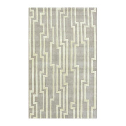 Surya - Surya Modern Classics Hand Tufted Gray Wool Rug, 9' x 13' - Mention the two words Divine and Design to anyone and the name Candice Olson immediately comes to mind. her impeccable talent for design and her overwhelming charisma have made her a household name. Imported.Material: 100% New Zealand WoolCare Instructions: Blot Stains