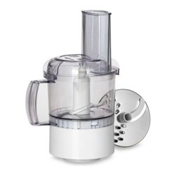 Cuisinart - Cuisinart Food Processor Stand Mixer Attachment - Nothing handles time-consuming food prep tasks better. This handy 3-cup Food Processer attachment connects to the high-speed power outlet on any Cuisinart Stand Mixer to chop nuts, puree soup or mix soups and sauces.