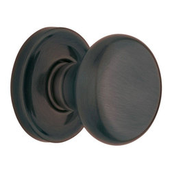 Baldwin Hardware - Estate Classic Full Dummy Door Knob in Venetian Bronze (5015 112 FD SET) - The Estate line offers the ultimate flexibility in creating your own custom look. Not only can you mix knobs, levers, and roses to create a custom lockset that's a true fit to your design vision, you can also mix knob and lever styles on each side of the