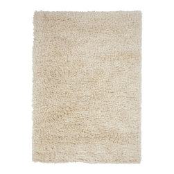 Plush Ivory Rug - Add texture and softness to any space with this plush rug. Woven by hand in Belgium, this plush-pile rug makes a great fit for any modern, global eclectic, or transitional space that needs an anchoring floor piece.