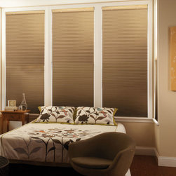 Graber - Graber CrystalPleat 3/8-inch Double Cell Cellular Shades: Cocoon Blackout - The Cocoon blackout fabric is the top of the line in the Graber CrystalPleat collection providing total blackout light control.