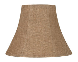 """Lamps Plus - Country - Cottage Natural Burlap Medium Bell Lamp Shade 7x14x11 (Spider) - Natural burlap fabric makes a casual lamp shade that's stylish and relaxing. This softback medium-size bell shade features tan polyester lining and a brass finish spider fitter. The correct size harp is included free with this shade. Natural burlap fabric. Tan lining. Brass spider fitter. 7"""" across the top. 14"""" across the bottom. 11"""" slant. 10 1/2"""" height.  Natural burlap fabric.   Tan lining.   Brass spider fitter.   7"""" across the top.   14"""" across the bottom.   11"""" slant.  10 1/2"""" height."""