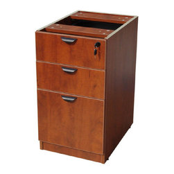 Boss Chairs - Boss Chairs Boss Deluxe Pedestal-Full Box/Box/File in Cherry - The deluxe locking ...
