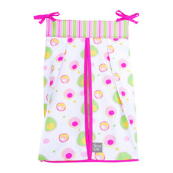 Trend Lab - Splash Pink - Diaper Stacker - Why not go all the way? and complete your babys nursery with this wonderful accessory? Keep your diapers organized concealed and close at hand with the Splash Pink - Diaper Stacker by Trend Lab features ties allow for easy attachment to most dressers and changing tables. Measures 12 x 8 x 20.25 inches and holds up to three-dozen diapers. Care instructions Machine wash cold; Gentle cycle; Do not bleach; Tumble dry low or line dry; Do not dry clean.