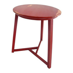 Used Red Retro Table - Give your space that retro look with this fun pop of color next to your sofa or side chair! This item is vintage and has some surface wear.