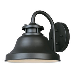 Designers Fountain - Designers Fountain Bayport Dark Sky Transitional Outdoor Wall Sconce - This Designers Fountain outdoor wall sconce features traditional style blended with subtle touches of industrial and maritime inspired style. From the Bayport Collection, this Dark Sky Compliant light fixture features a dark toned Bronze finish that accentuates the gooseneck design and pulls the look together.