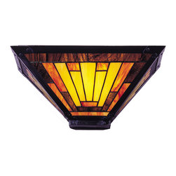 Dale Tiffany - Dale Tiffany 6066/1LTB Mission Wall Sconce - Shade: Hand Rolled Art Glass