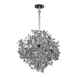 "Maxim - Contemporary Maxim Comet 25"" Wide Chrome and Crystal Chandelier - This contemporary chrome and crystal chandelier has a dazzling display of reflective surfaces that will bring brilliance to your living space. Bright polished chrome ""comets"" seem to burst forth with a single beveled crystal bead at the center of the comet's head. Just one of the sparkling fixtures from the Comet Collection by Maxim Lighting. Polished chrome finish. Beveled crystal. Includes ten 40 watt G9 Xenon bulbs. 25"" wide. 28"" high. 180"" lead wire. 120"" chain length.  Polished chrome finish.   Beveled crystal.   Includes ten 40 watt G9 xenon bulbs.   25"" wide.   28"" high.   180"" lead wire.   120"" chain length."