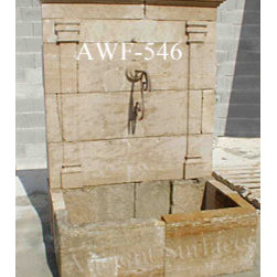 Wall Fountains out of Antique Limestone - Images provided by 'Ancient Surfaces'